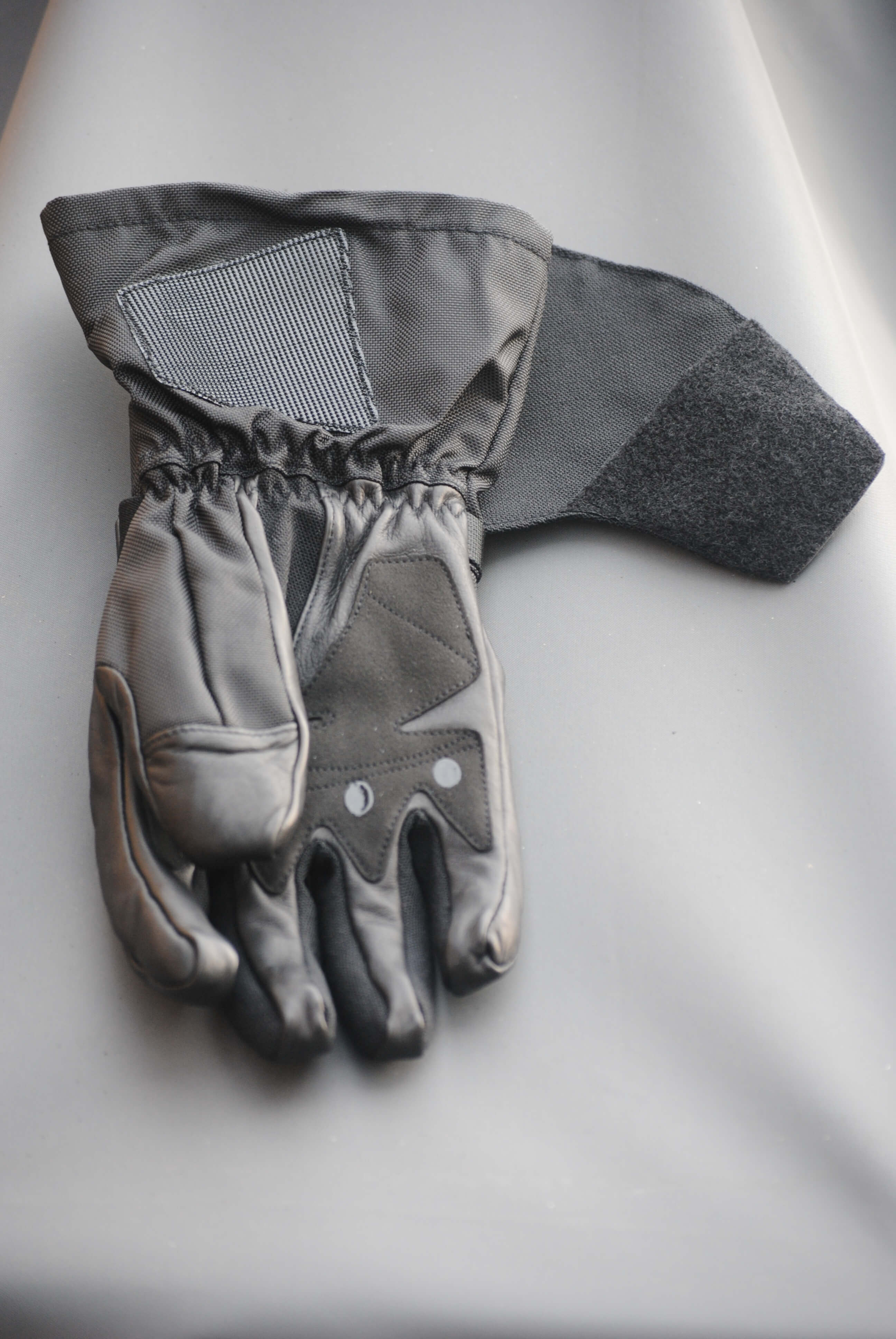 ICON Patrol Waterproof Gloves palm side up full view