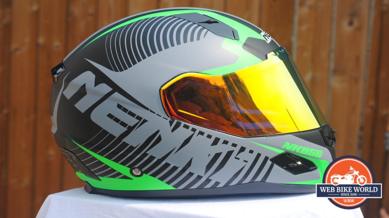 NENKI NK856 Helmet side view with visor down