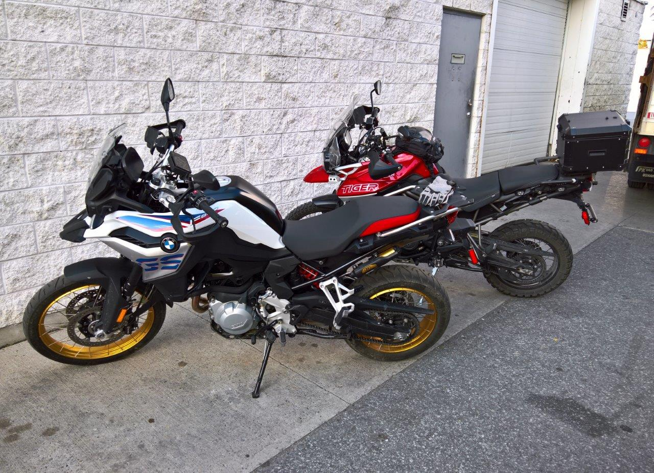 2019 BMW F850GS Rallye and 2018 Triumph Tiger 800Xca