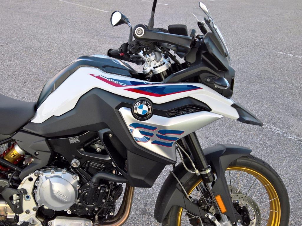 2019 BMW F850GS Rallye closeup of design and trim