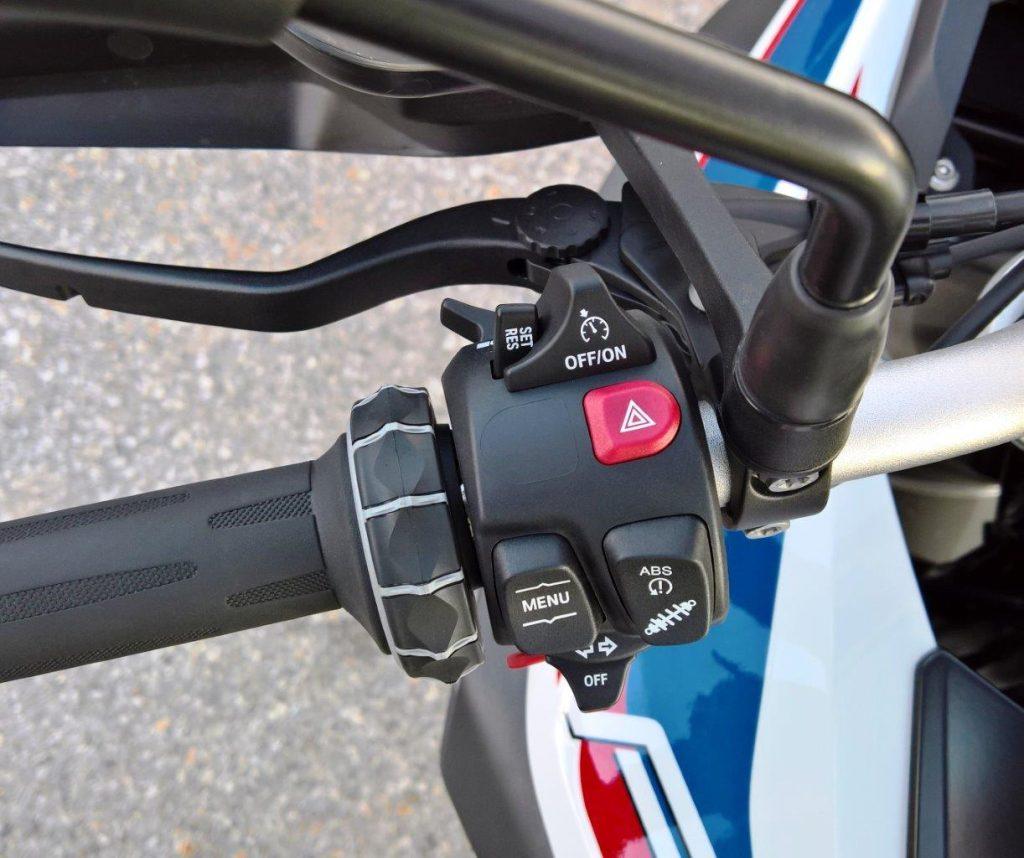 2019 BMW F850GS Rallye left handlebar nacelle & buttons