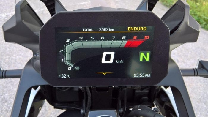 2019 BMW F850GS Rallye TFT display