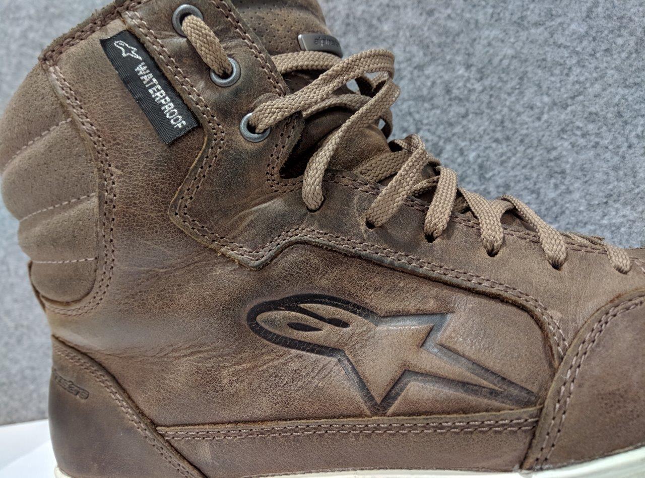 10 Brown Alpinestars J-6 Waterproof Riding Shoes