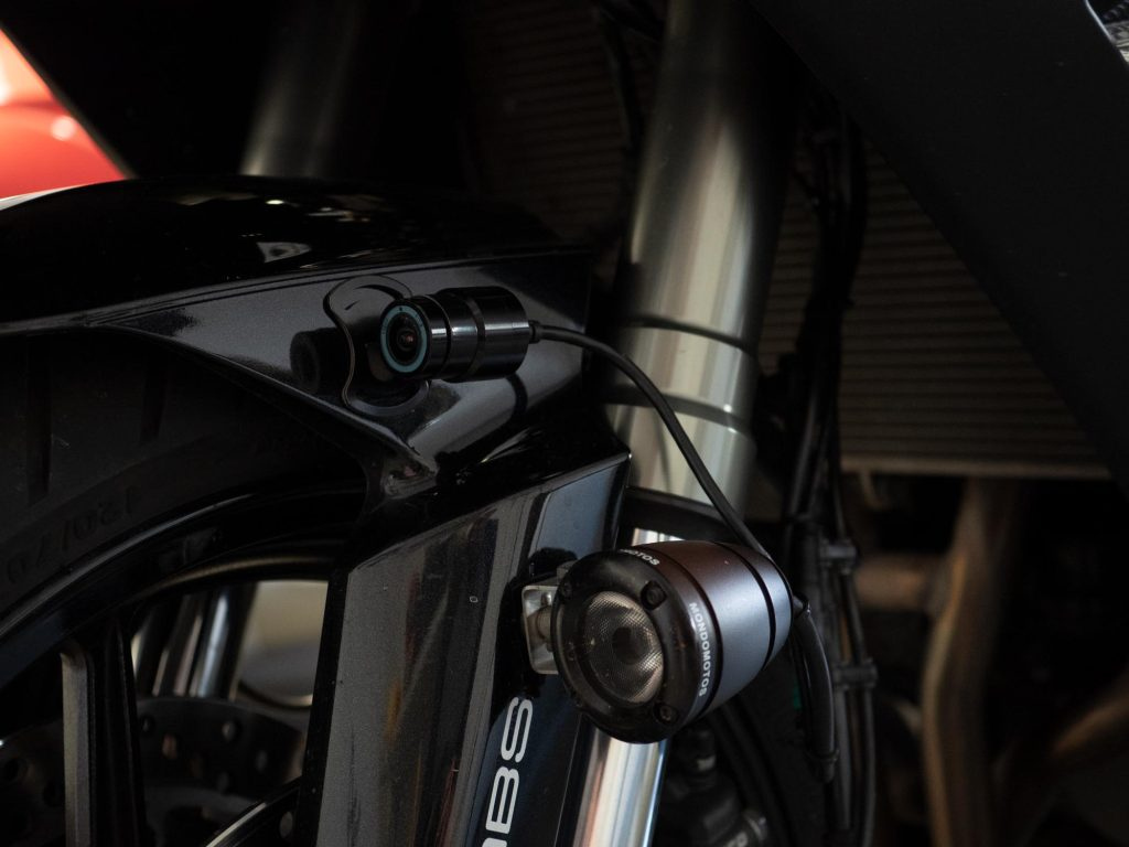 Halocam M1 Motorcycle Dashcam installed