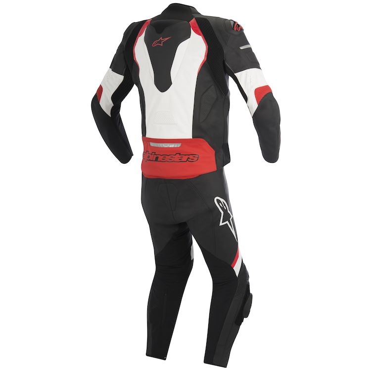 Alpinestars two piece leather race suit rear view