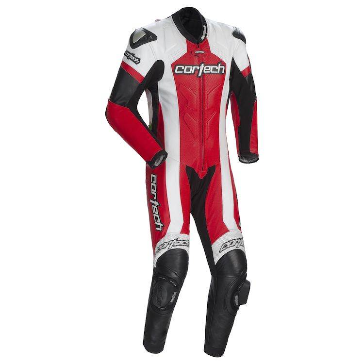 Cortech adrenaline leather race suit front view