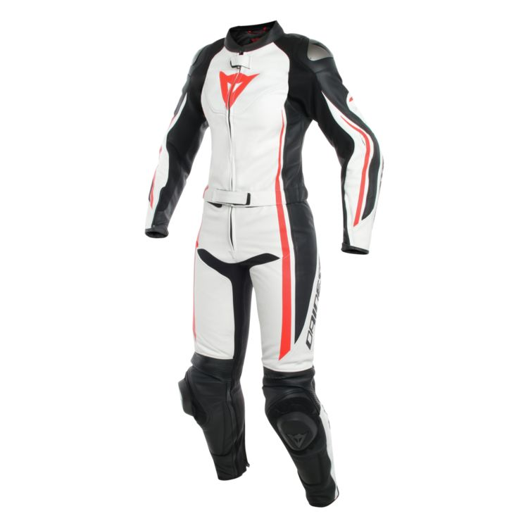 Dainese ladies two piece leather race suit front view