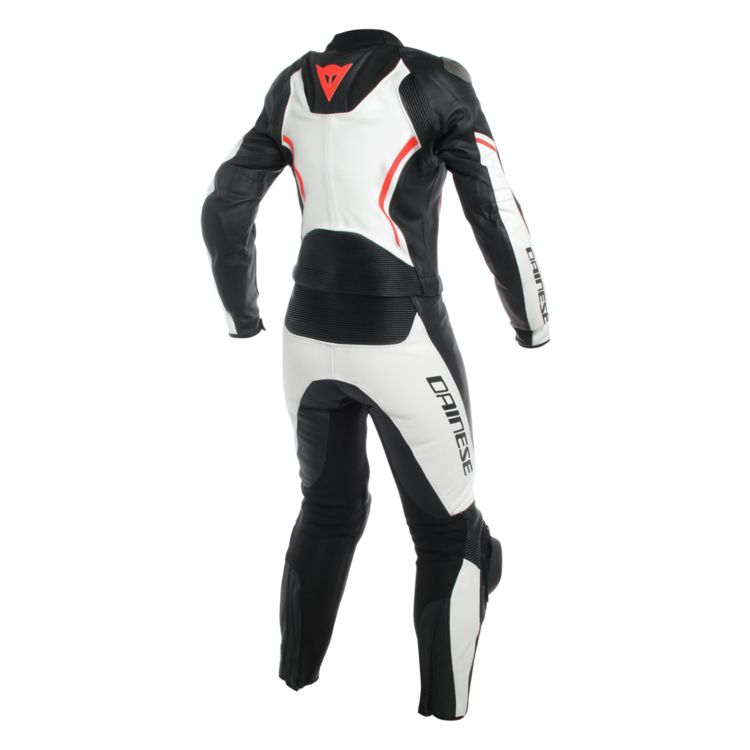 Dainese ladies two piece leather race suit rear view