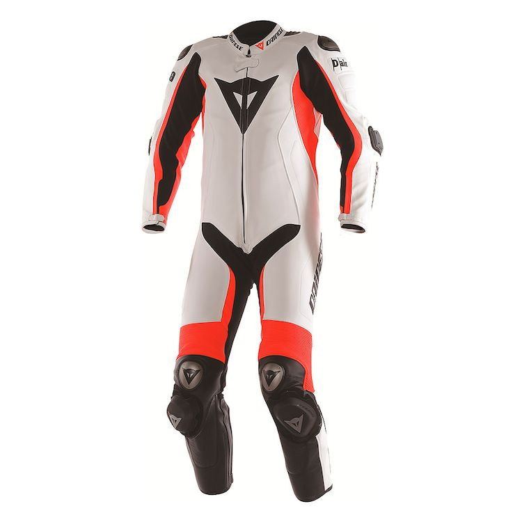 Dainese d-air leather race suit front view