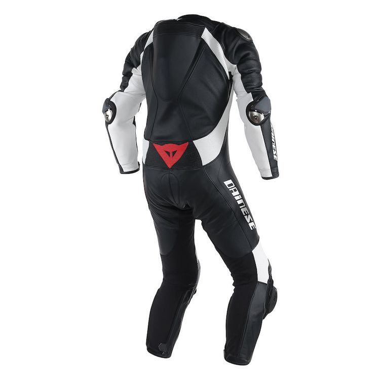 Dainese d-air leather race suit rear view
