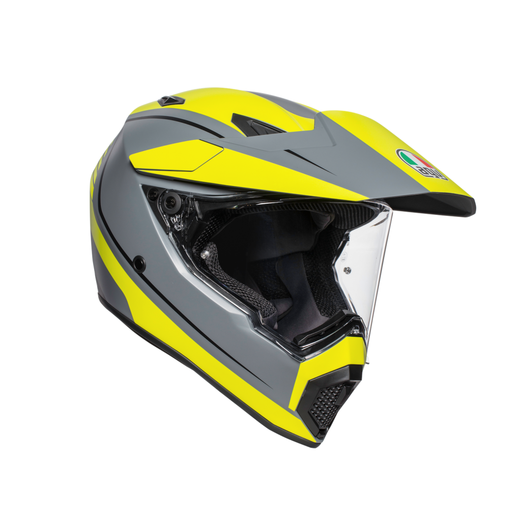 AGV AX9 Yellow and Silver
