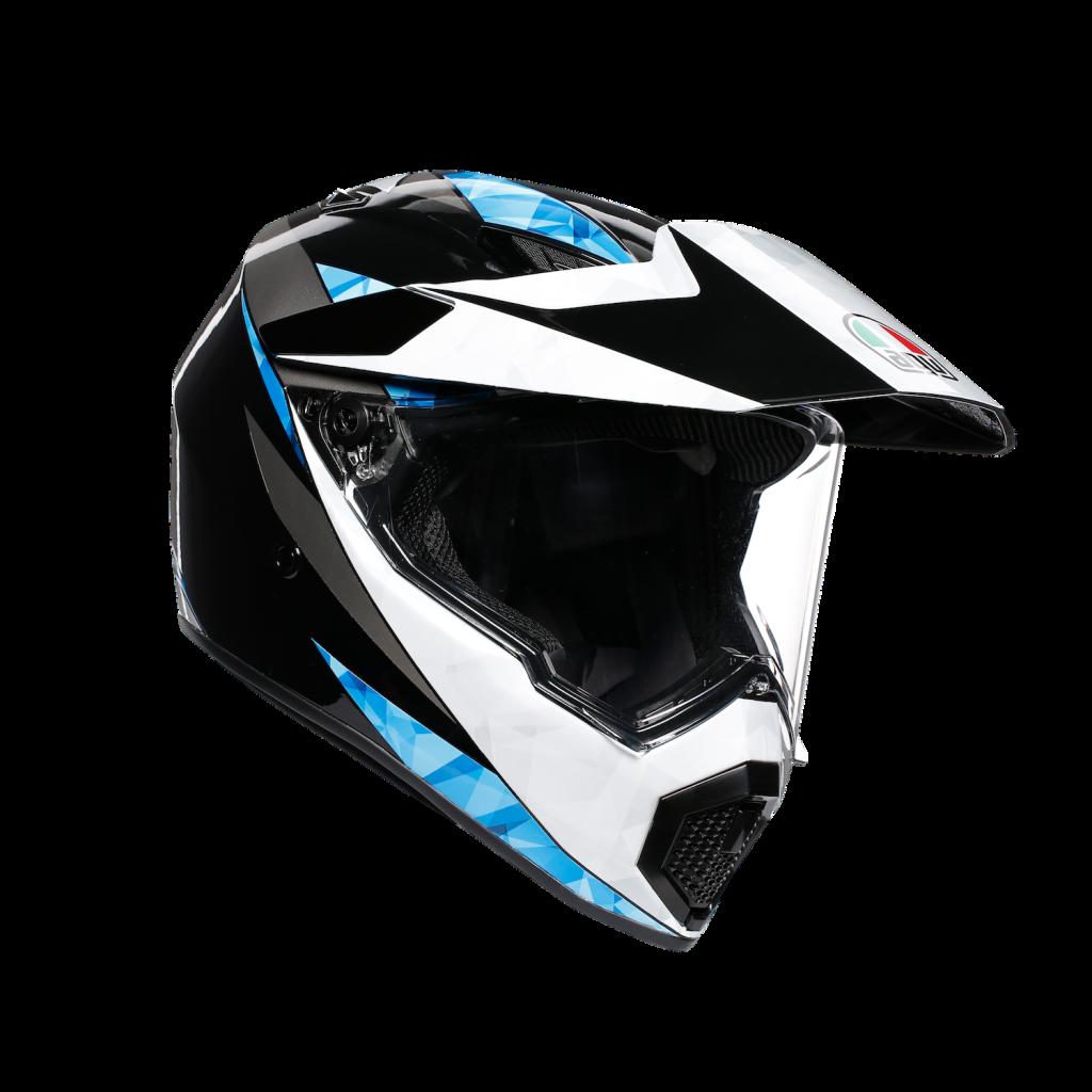 AGV AX9 black, white, blue
