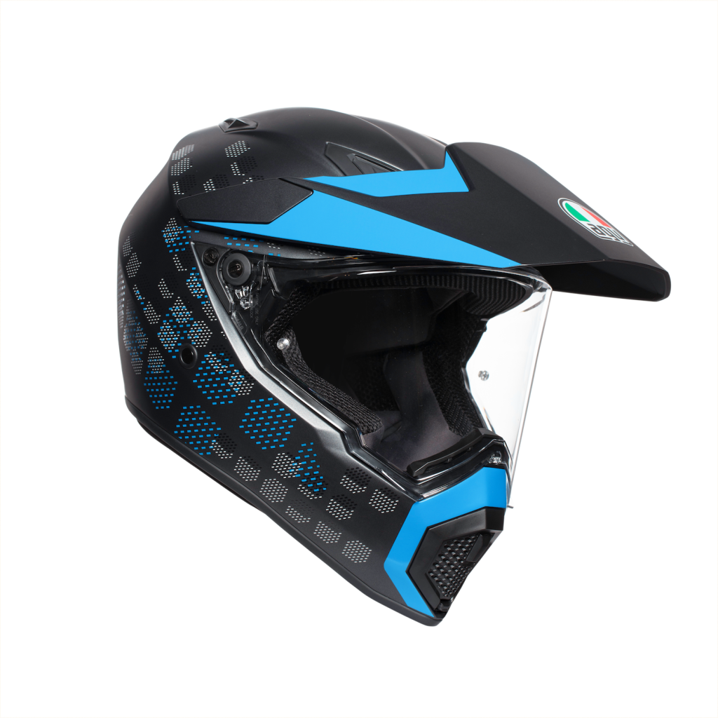 AGV AX9 dark gray and blue