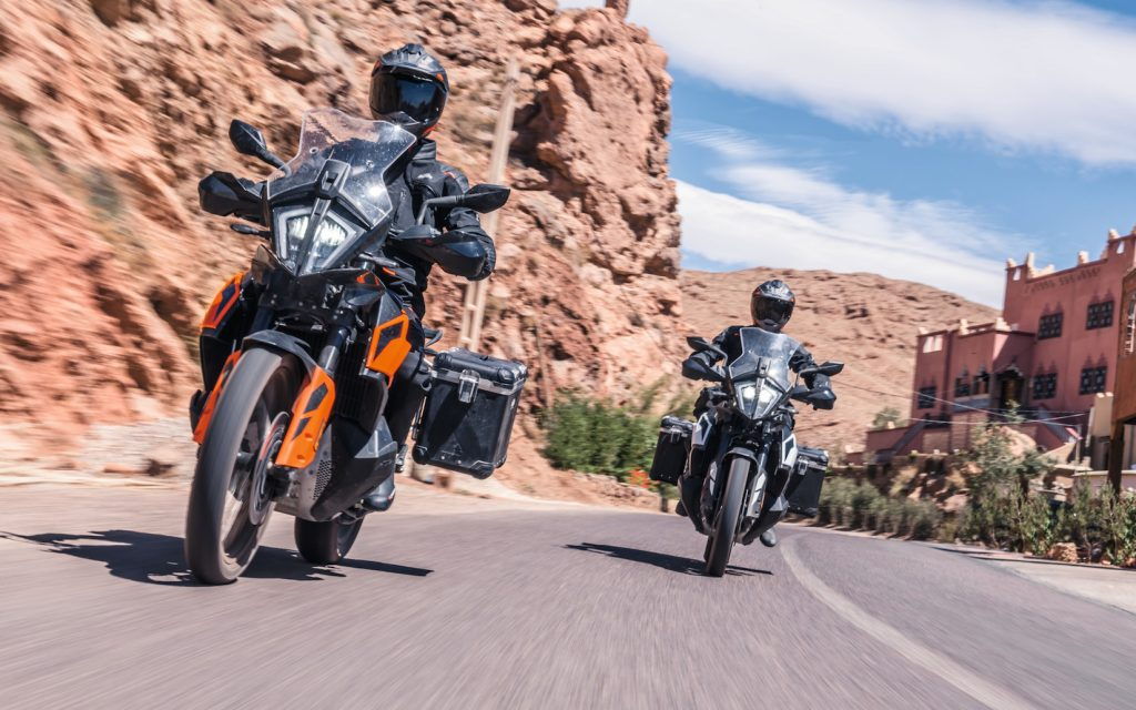 KTM 790 Adventure on the road