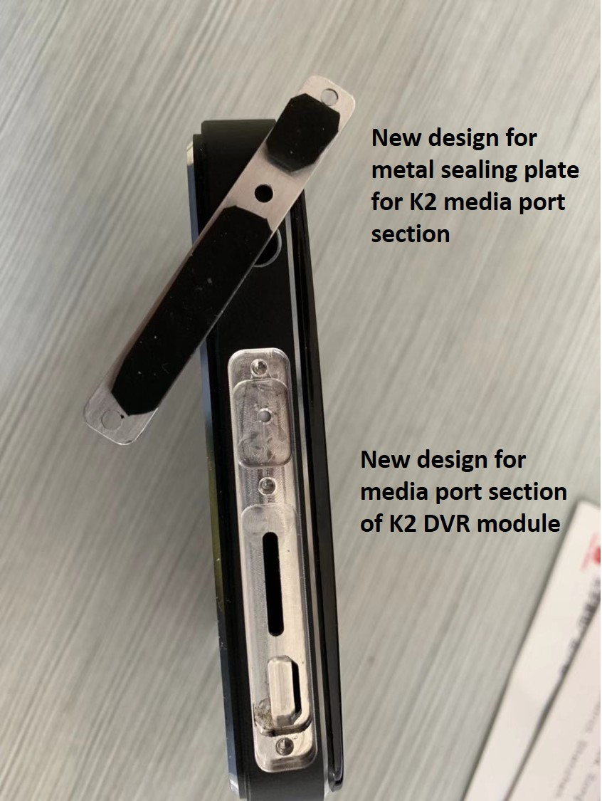 INNOV K2 pressure-fit thumb-screw secured plate