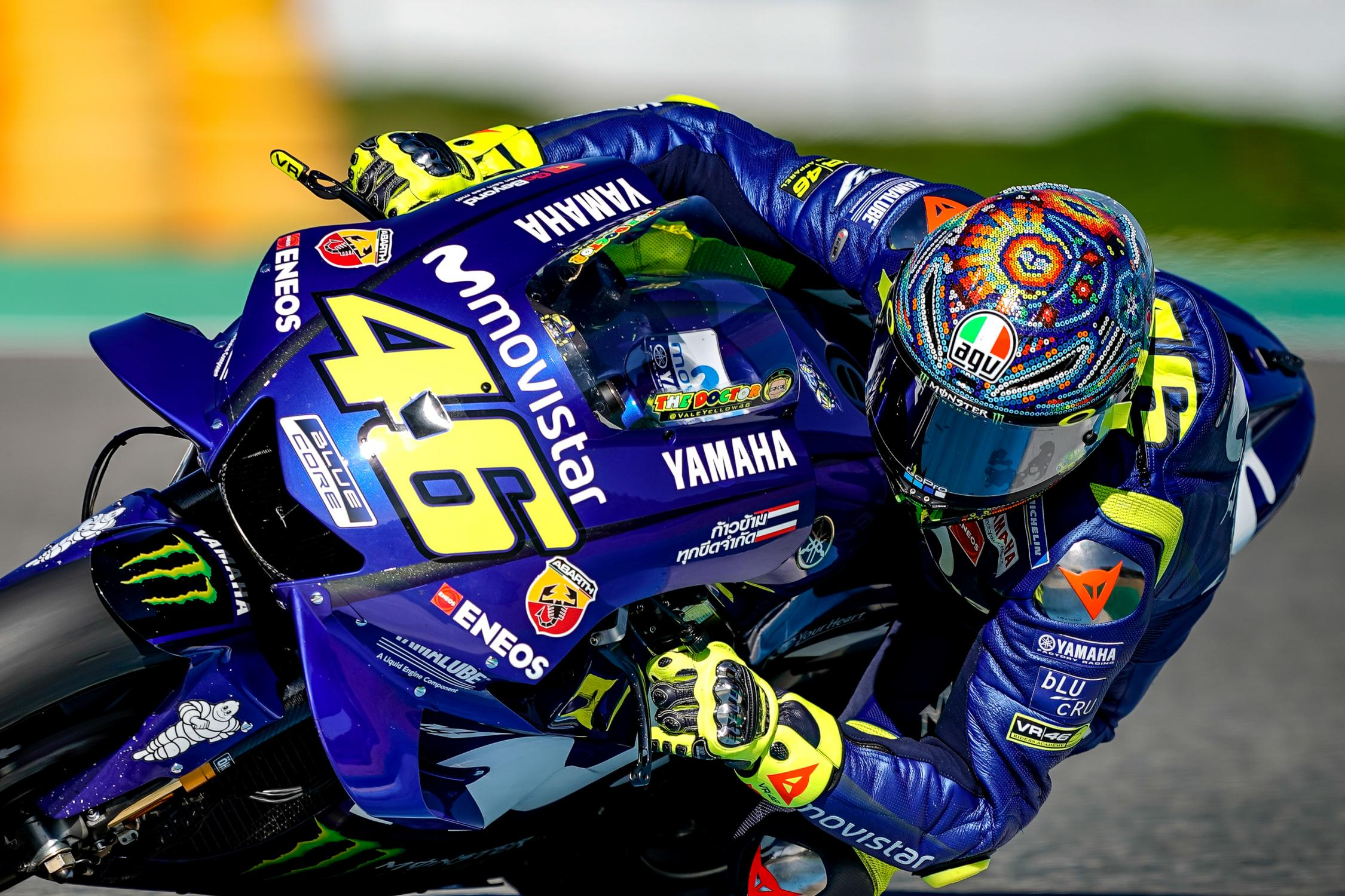 MotoGP racer on the track