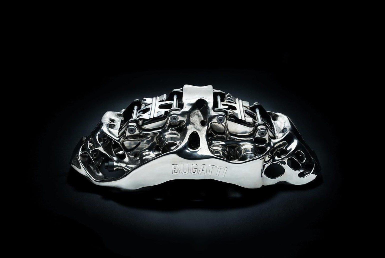 Bugatti Titanium 3D-printed Brake Caliper