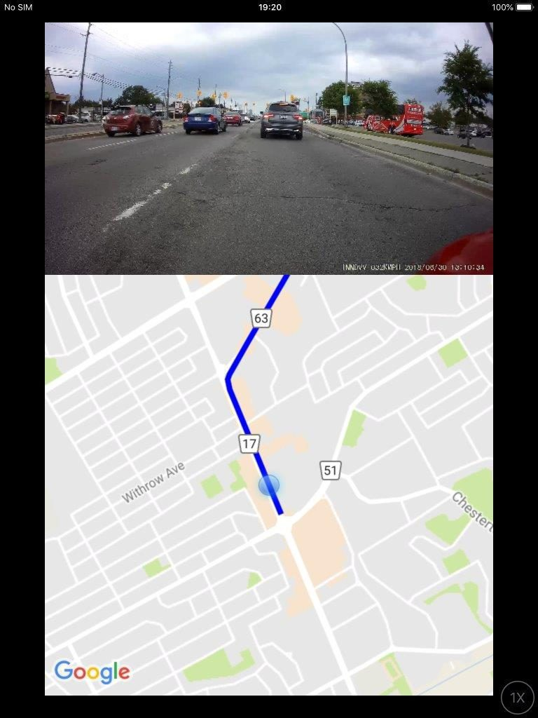 INNOV K2 App Live View and Track Mapping
