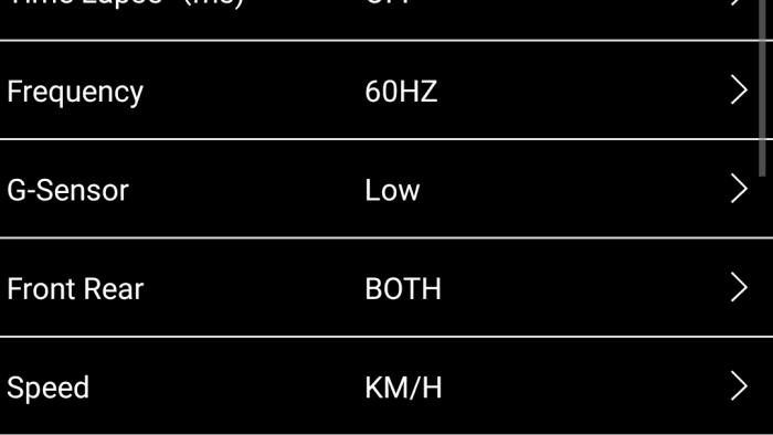 INNOV K2 App Settings Screen