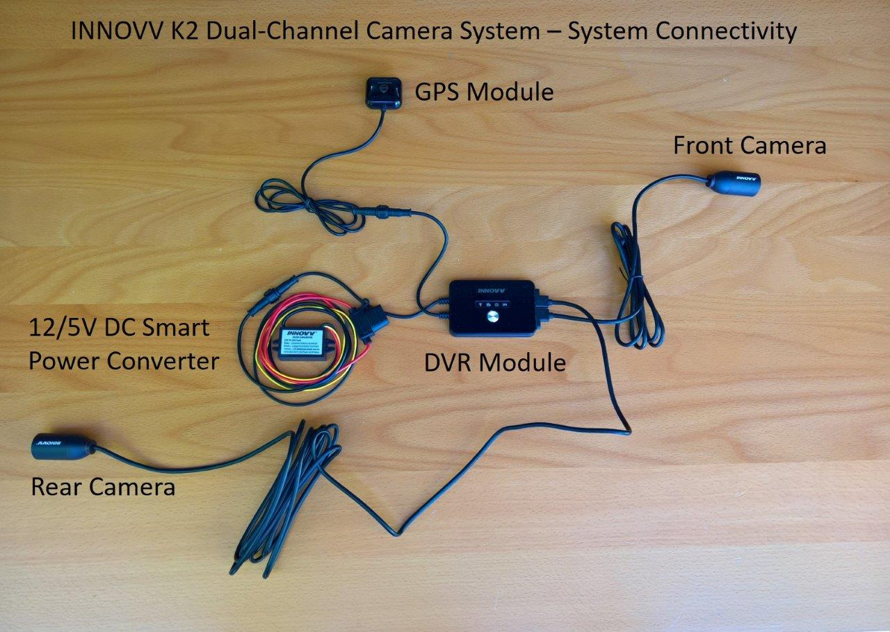 The Innovv K2 Motorcycle Camera Great System Versatility Channel Wiring Innov Basic Connectivity Layout
