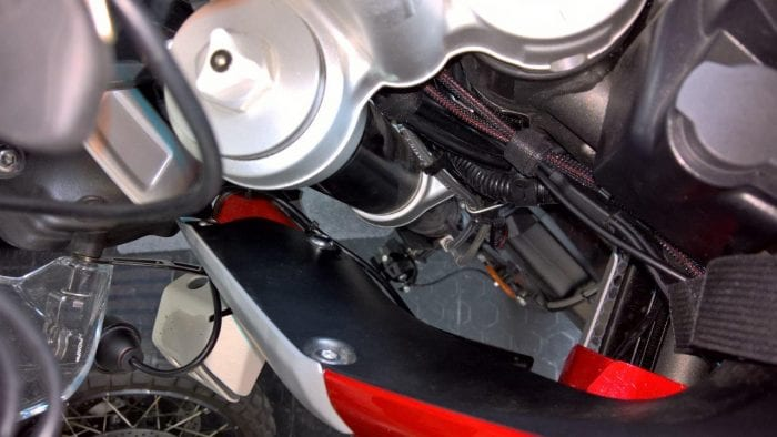INNOV K2 Installation Wiring on the 2018 Triumph Tiger 800Xca