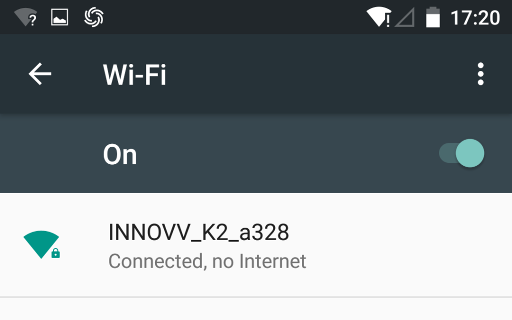INNOV K2 Network ID on Smart Device