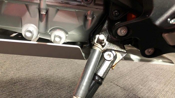 2019 KTM 790 Adventure R kickstand.
