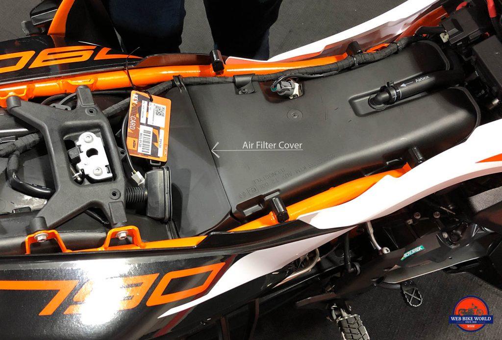 2019 KTM 790 Adventure R air box.