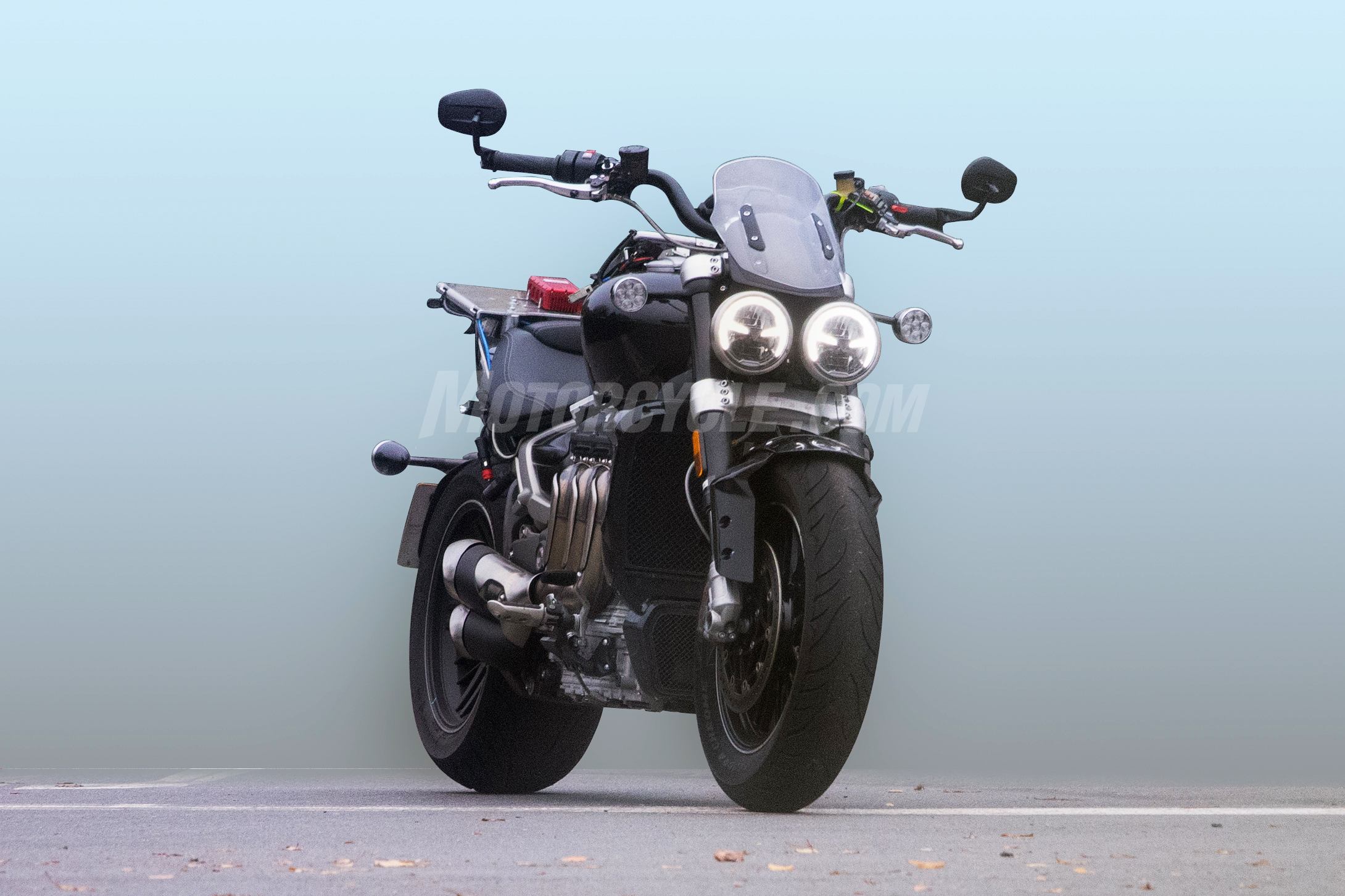 Spy Shots Reveal Triumphs 2020 Rocket Iii Webbikeworld