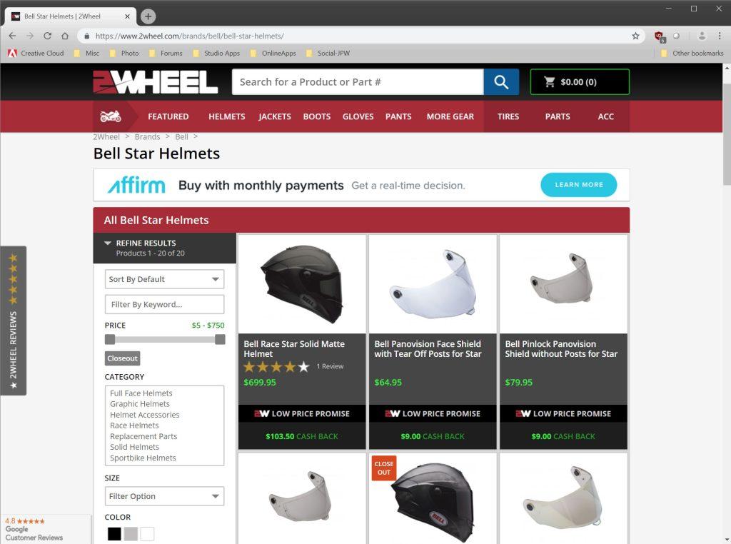 2Wheel.com Bell Helmets