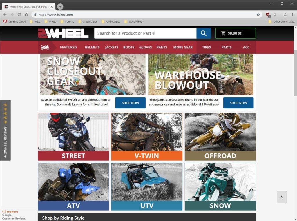 2Wheel.com categories