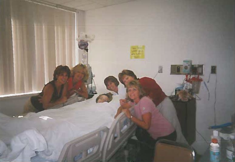 Brittany with family in hospital