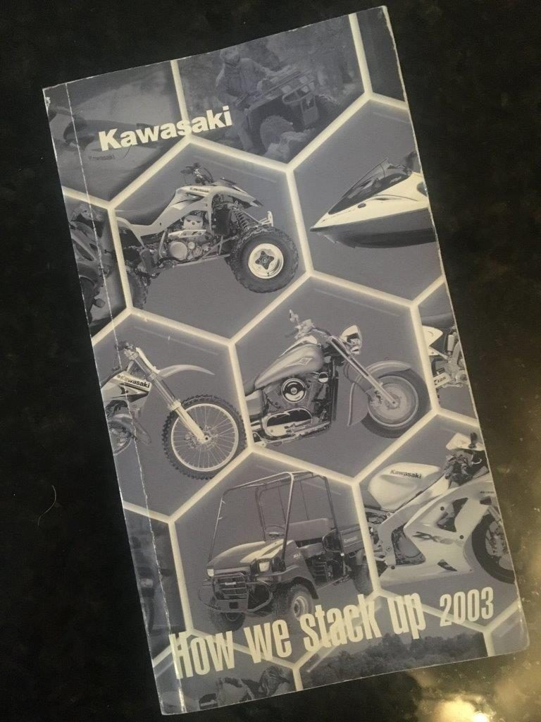 Kawasaki Model Comparison Book 2003