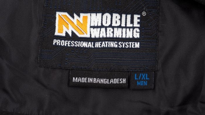 Mobile Warming Thawdaddy interior labels