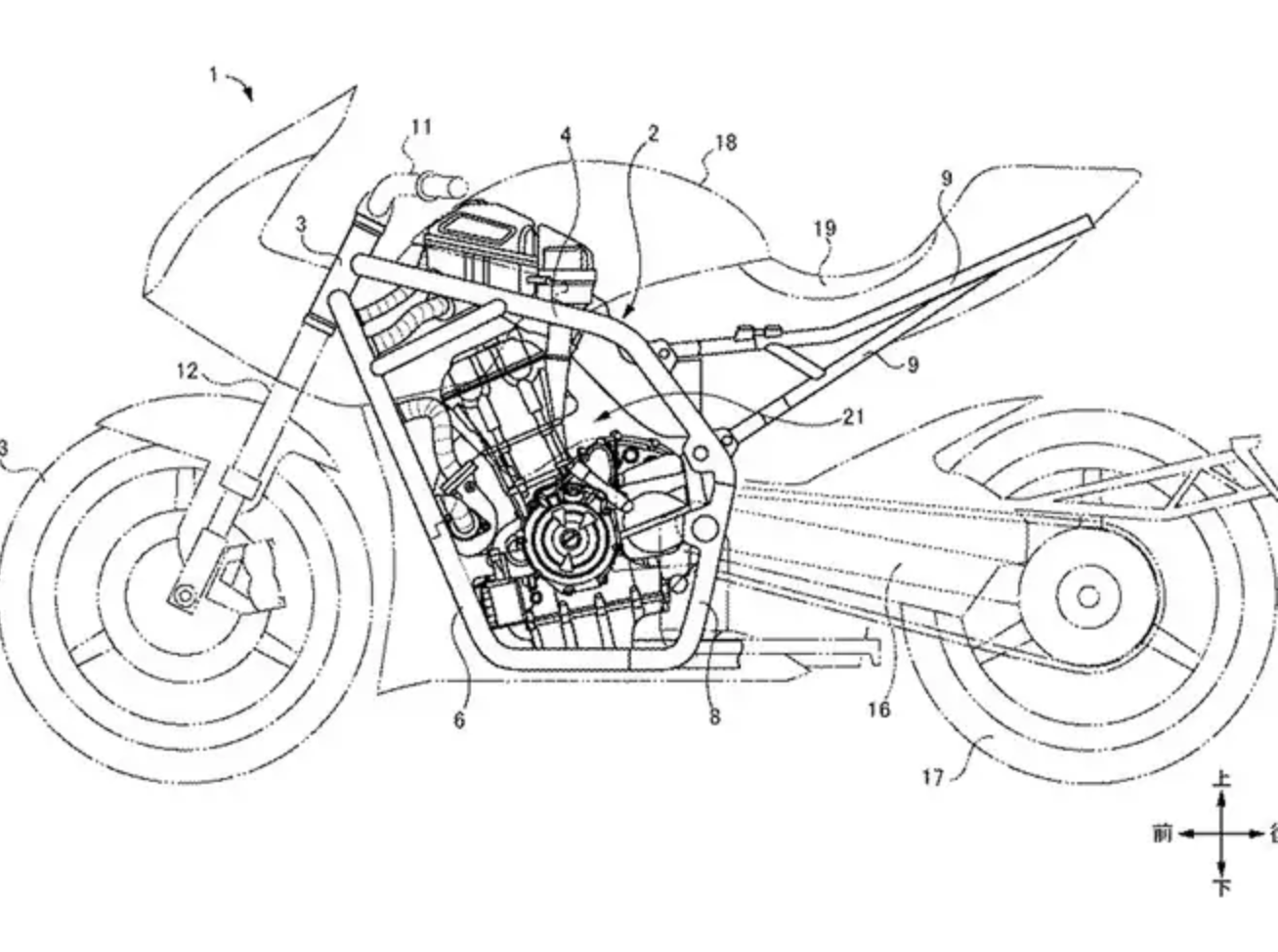 Suzuki twin-turbo motorcycle patent