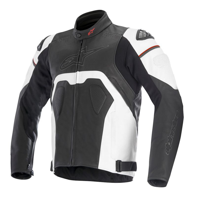 Alpinestars Core Leather Jacket in black and white
