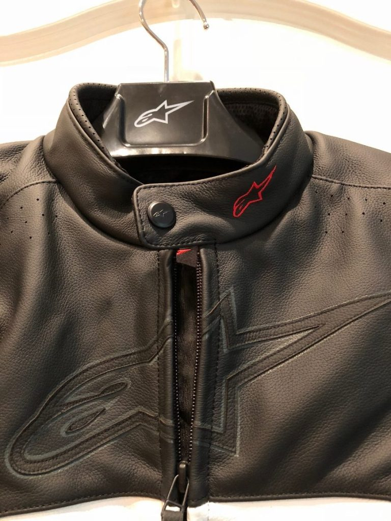 Alpinestars core leather jacket collar