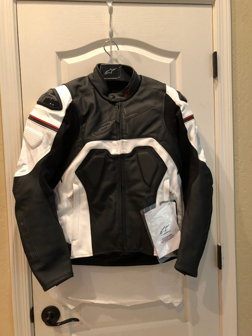 Alpinestars Core leather jacket with tags