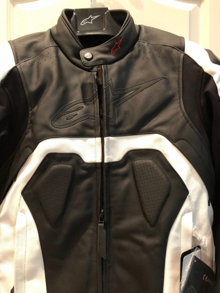 Alpinestars Core leather jacket chest