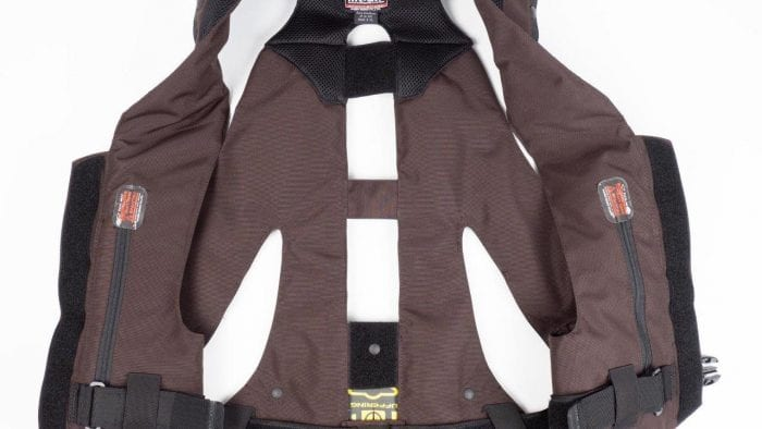 Hit-Air MLV-C Motorcycle Vest Unbuckled