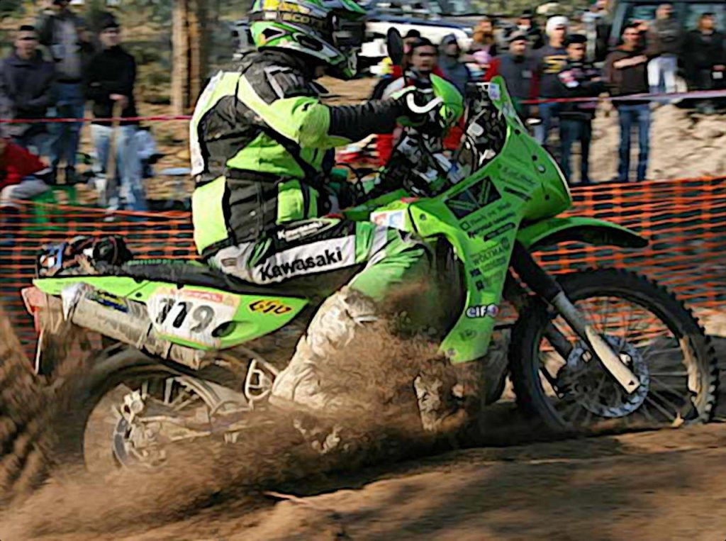 Team Green Dakar using the KLR at Dakar Rally