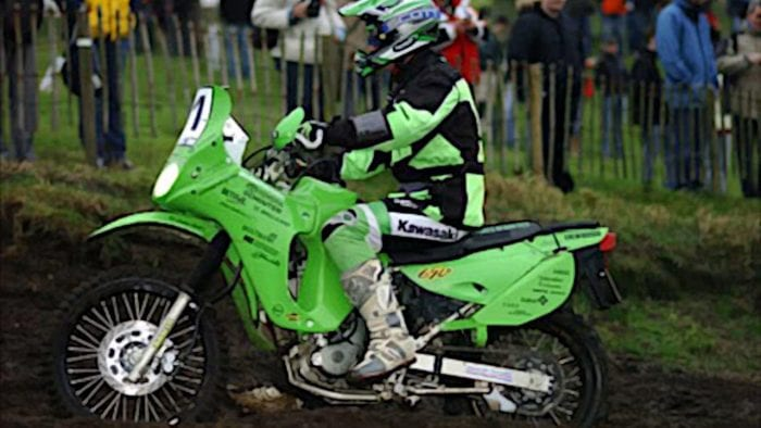 the Kawasaki KLR at Dakar Rally