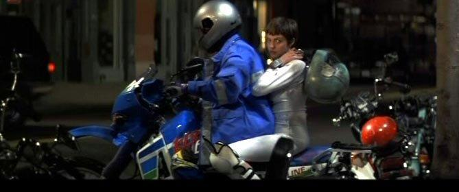 Kawasaki KLR650 in the movie Hackers
