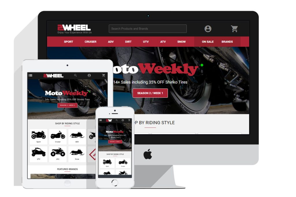 2Wheel's New Website Design