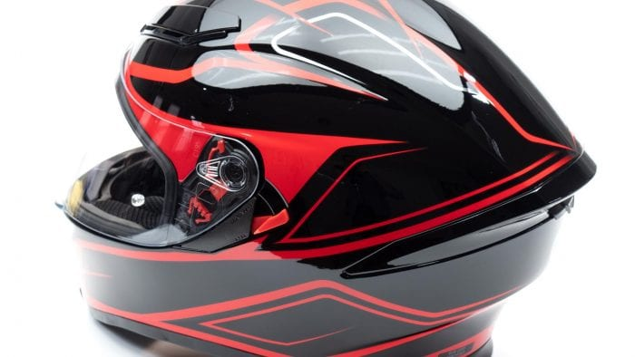AGV K5s Helmet full off-axis view from rear