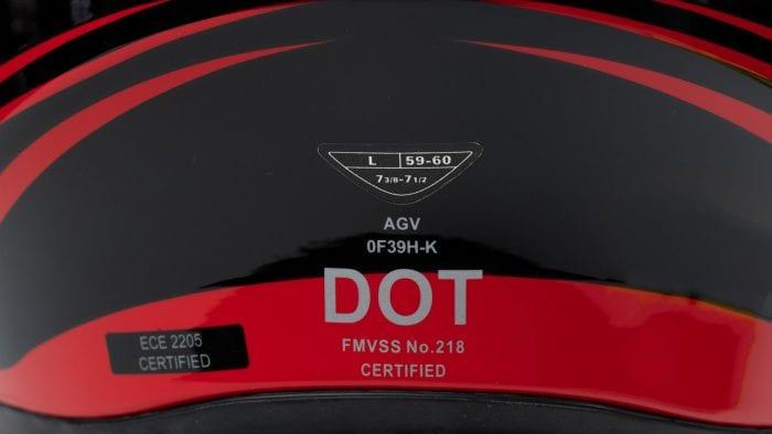 AGV K5s Helmet DOT certified