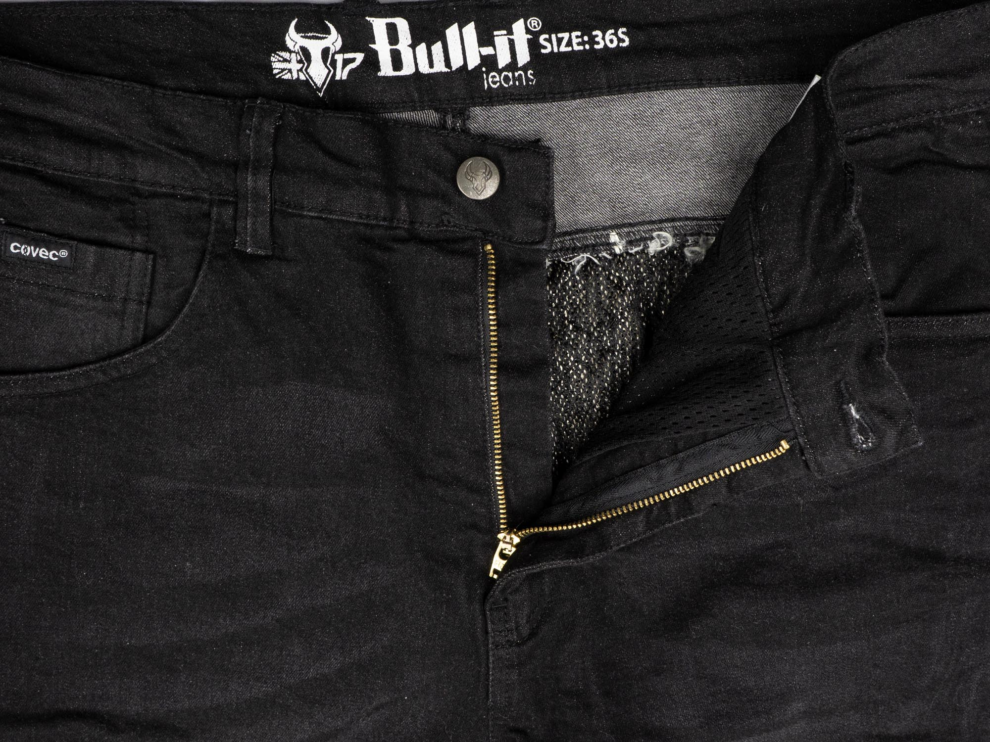 Bull-it SP120 Lite Heritage Slim Fit Jeans front zipper and metal button