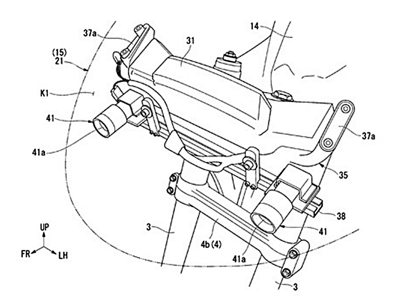 Honda Gold Wing Patent