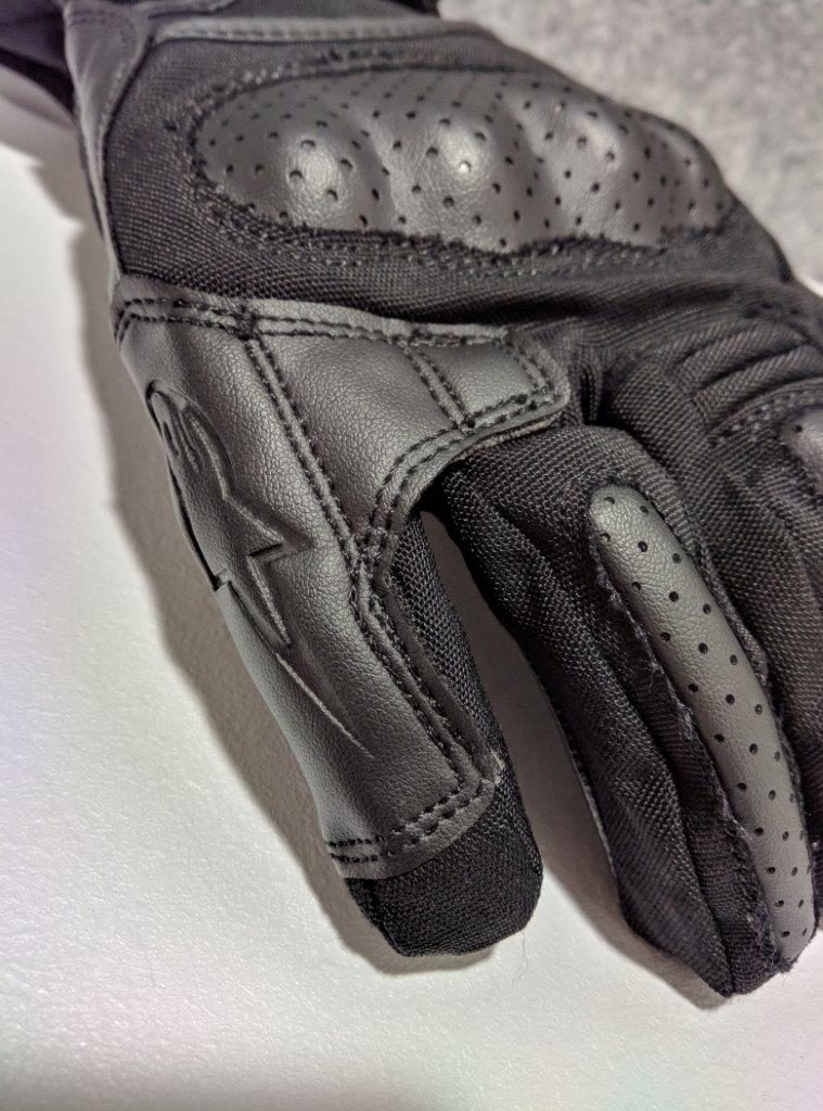 Alpinestars Apex Drystar Gloves finger bridge