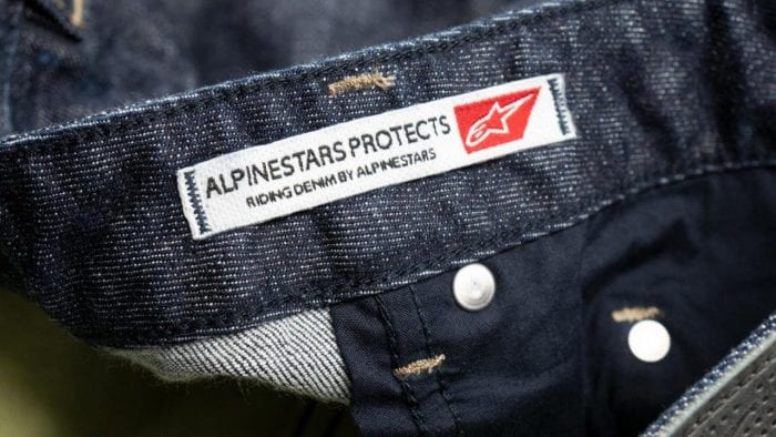 Alpinestars Copper Out Denim Pants inner logo tag